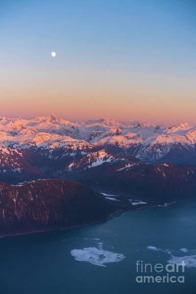 Seaplanes Photograph - Frederick Sound Ice And The Coast Range At Dusk by Mike Reid