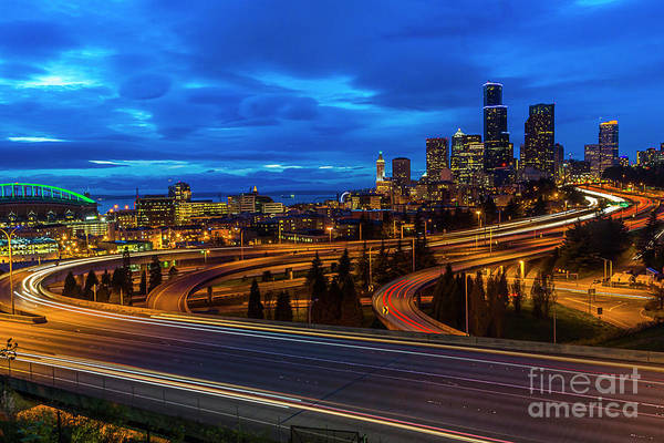 Photograph - Freeway 5 North To Seattle by Sal Ahmed