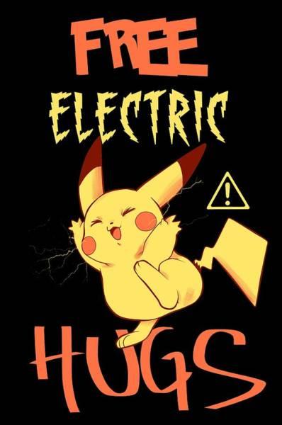 Digital Art - Free Electric Hugs by PsychoDelicia