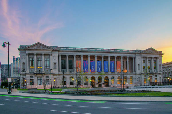 Wall Art - Photograph - Free Library In The Morning - Philadelphia by Bill Cannon