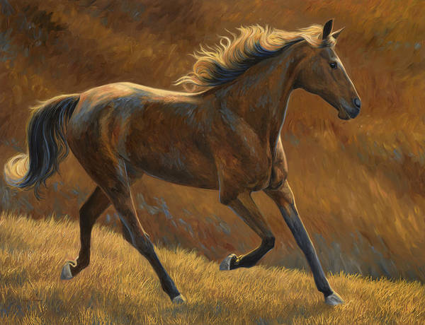 Painting - Free by Lucie Bilodeau