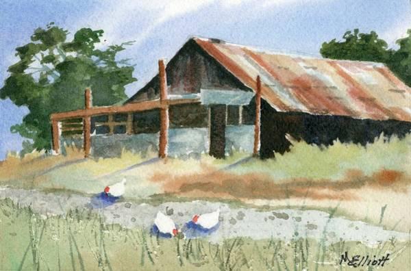 Wall Art - Painting - Free Range Chickens by Marsha Elliott