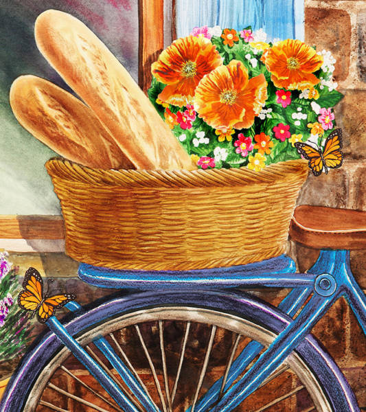 Bakery Painting - Free Ride To The Bakery by Irina Sztukowski