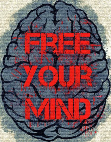 Brain Painting - Free Your Mind by Mary Bassett