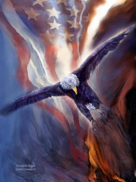 Mixed Media - Freedom Eagle by Carol Cavalaris