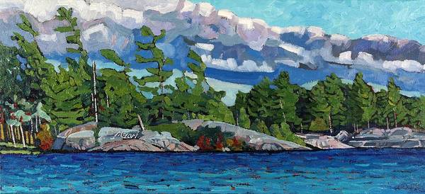Stratocumulus Painting - Freedom Island by Phil Chadwick