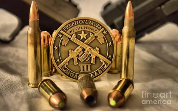 Ammo Photograph - Freedom Lives by Arthur Herold Jr
