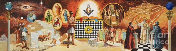 Masonic Wall Art - Painting - Freedom Lodge by Don Langeneckert