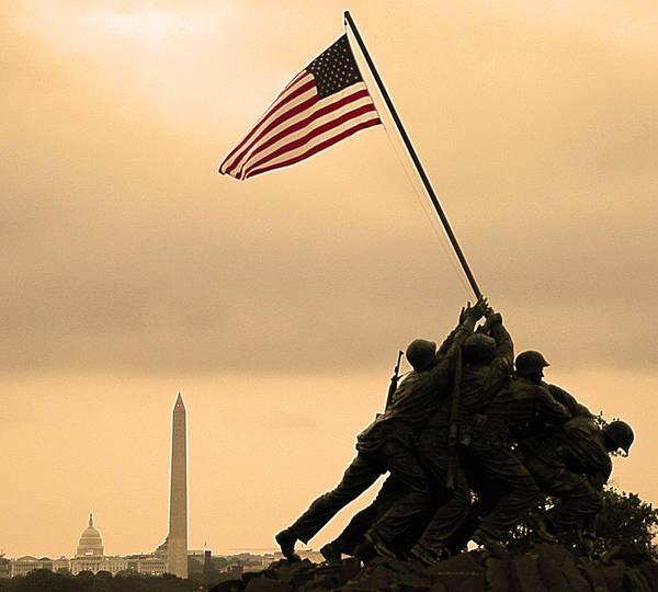 Marine Corps Wall Art - Photograph - Freedom by Mitch Cat