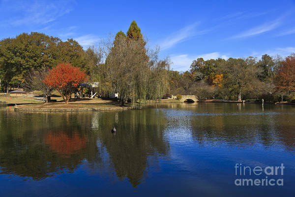 Photograph - Freedom Park Bridge And Lake In Charlotte by Jill Lang
