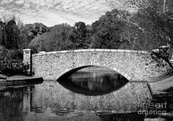 Photograph - Freedom Park Bridge In Black And White by Jill Lang