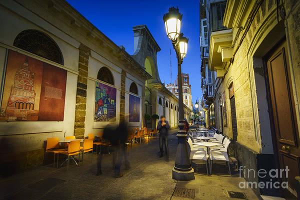 Photograph - Freedom Street And Central Market Cadiz Spain by Pablo Avanzini