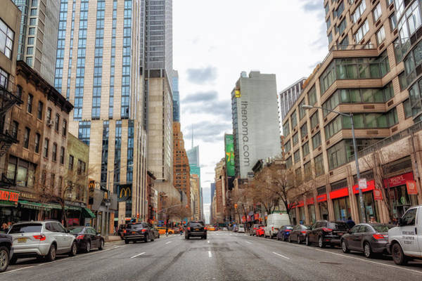 Photograph - Looking Up Sixth Avenue by Alison Frank