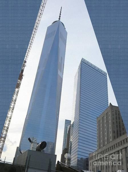 World War 11 Painting - Freedom Tower Formerly World Trade  Centre Wtc New York Photo Taken On July 4 2015 Usa America's Bir by Navin Joshi