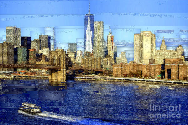 Digital Art - Freedom Tower In New York City by Rafael Salazar