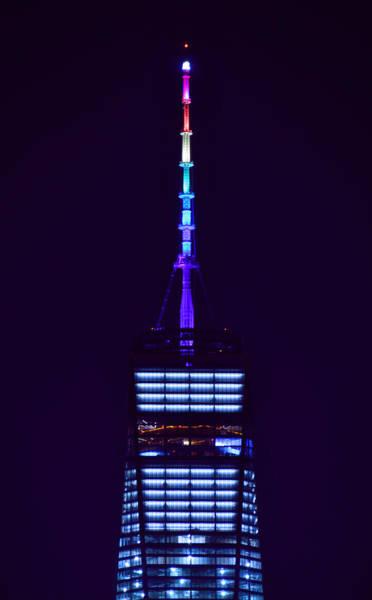 Photograph - Freedom Tower In Rainbow Colors by Raymond Salani III