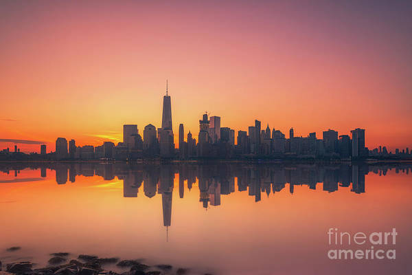 Lower Manhattan Photograph - Freedom Tower Reflections  by Michael Ver Sprill