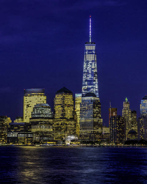 Photograph - Freedom Tower Skyline by Nick Zelinsky
