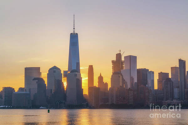 Nine Eleven Photograph - Freedom Tower Sun Rays by Michael Ver Sprill