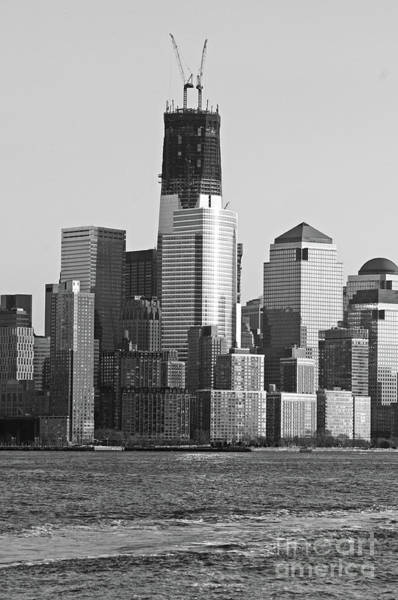 Wall Art - Photograph - Freedom Tower Under Construction In Black And White by Paul Ward