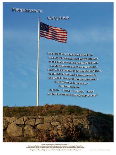 Revolutionary War Mixed Media - Freedom's Colors by Patrick J Maloney