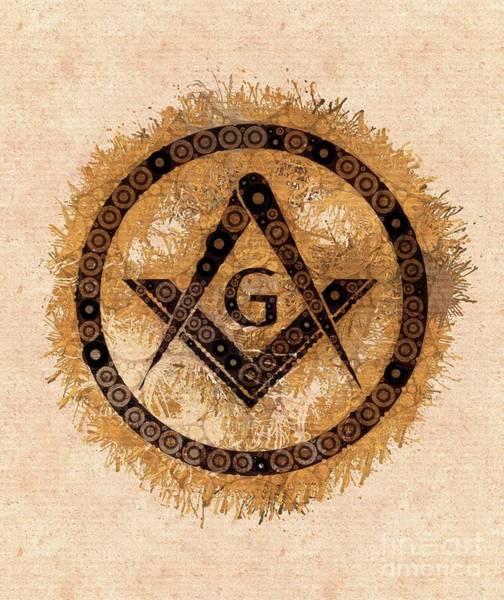 Masonic Wall Art - Painting - Freemason, Mason, Masonic, Lodge, Symbol by Mary Bassett