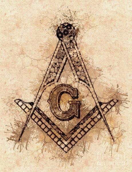 Masonic Wall Art - Painting - Freemason, Mason, Masonic, Lodge, Symbol by Pierre Blanchard