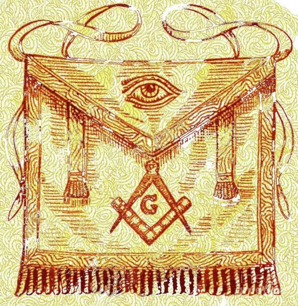 Serpent Digital Art - Freemason Symbolism by Pierre Blanchard
