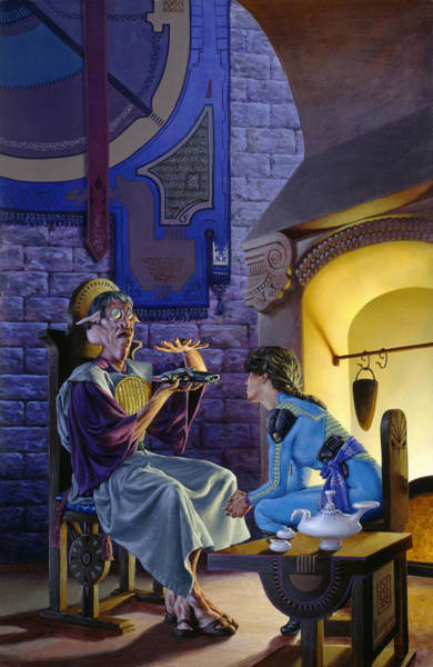 Summoning Painting - Freemaster by Richard Hescox