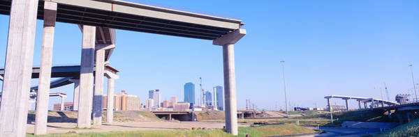 Fort Worth Photograph - Freeway Dead End, Fort Worth, Texas by Panoramic Images