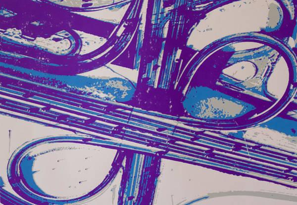 Aerial View Digital Art - Freeway Loops by Toni Silber-Delerive