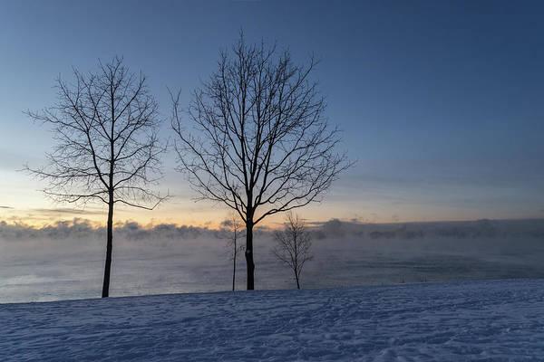 Photograph - Freezing Blue Hour On Lake Ontario by Georgia Mizuleva