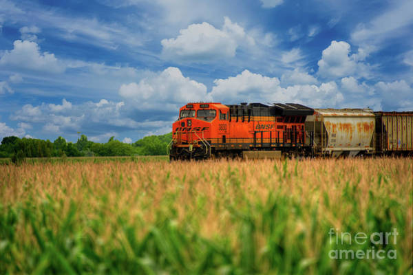 New Braunfels Photograph - Freight Train by Kelly Wade