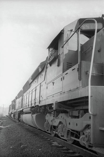 Photograph - Freight Train Parked On Siding. by Frank DiMarco