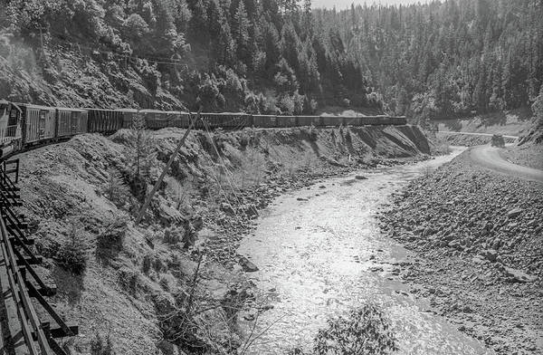 Photograph - Freight Train Through Cow Creek Canyon, Oregon by Frank DiMarco