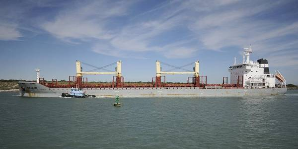 Photograph - Freighter Heading To Port by Bradford Martin