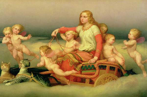 Fertility Painting - Freja Seeking Her Husband by Nils Johan Olsson Blommer