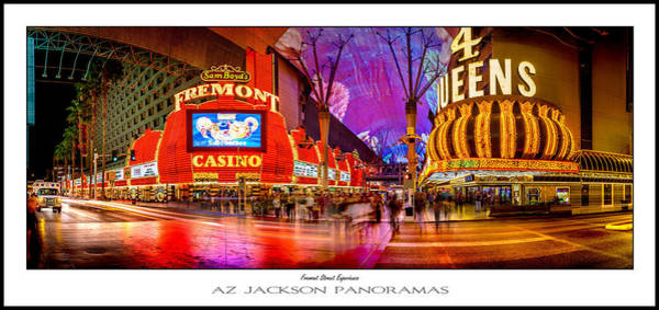 Casino Photograph - Fremont Street Experience Poster Print by Az Jackson