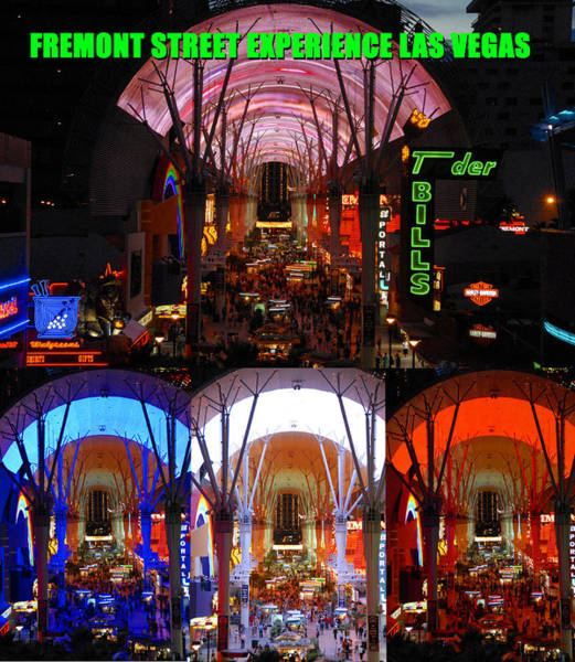 Wall Art - Photograph - Fremont Street Experience Poster Work A by David Lee Thompson