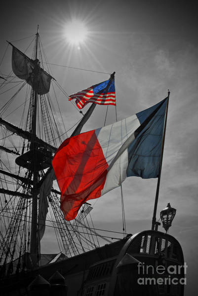 Shipmates Photograph - French And American Friendship by Jost Houk