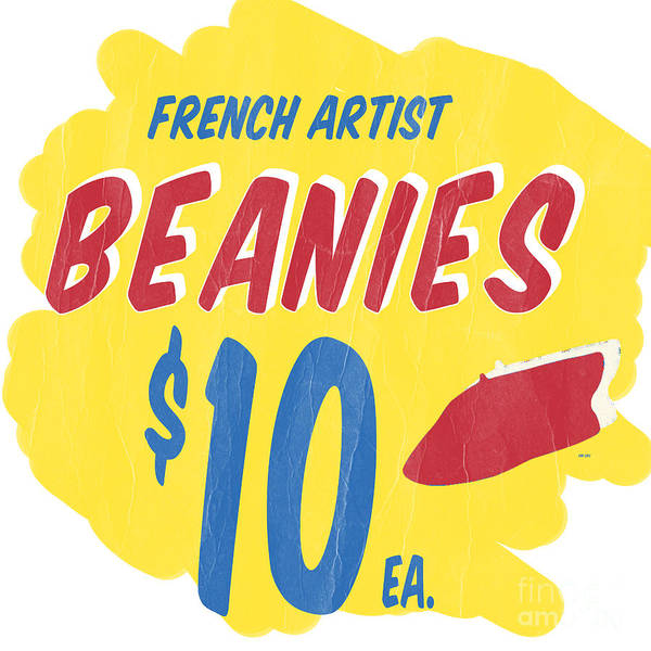 Photograph - French Artist Beanies by Edward Fielding
