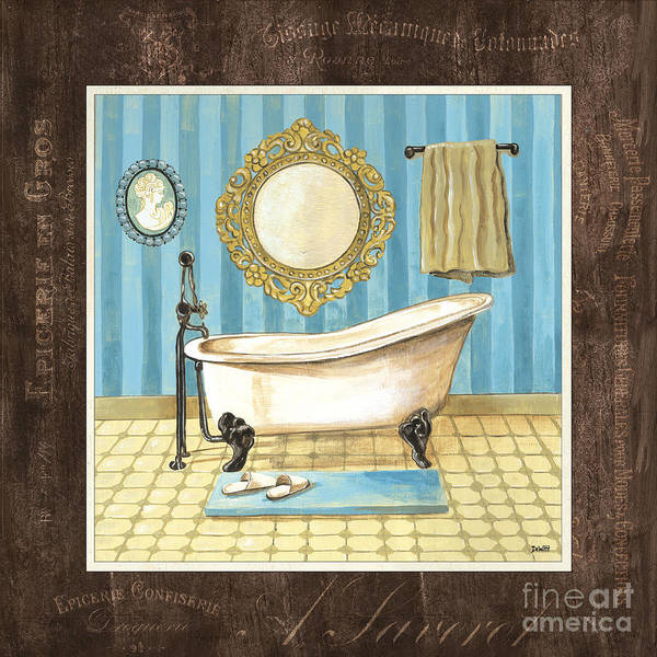 Tub Wall Art - Painting - French Bath 1 by Debbie DeWitt