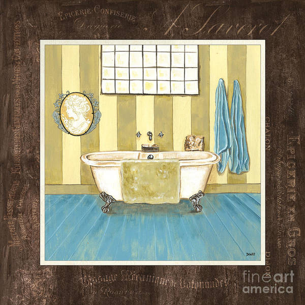 Tub Wall Art - Painting - French Bath 2 by Debbie DeWitt