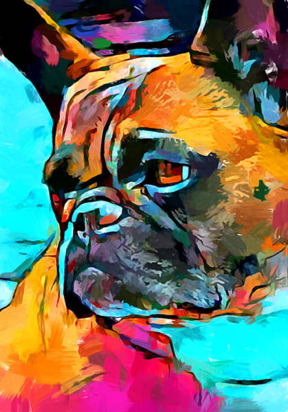 Wall Art - Painting - French Bulldog 2 by Chris Butler