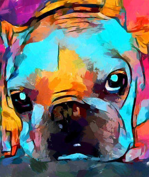 Wall Art - Painting - French Bulldog 3 by Chris Butler