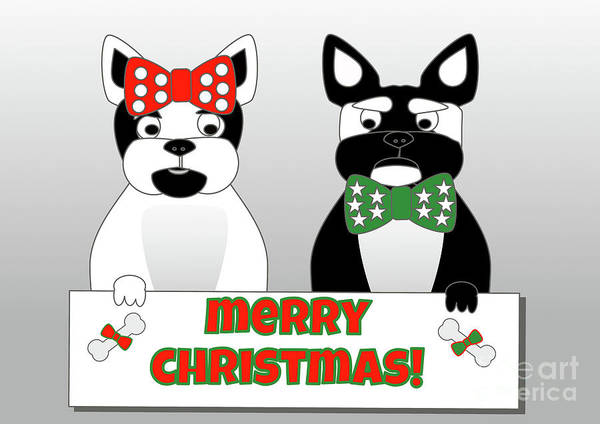 Digital Art - French Bulldog Christmas Wishes by Barefoot Bodeez Art