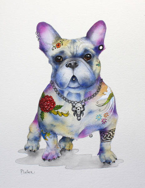 Painting - French Bulldog Ozzie by Patricia Lintner