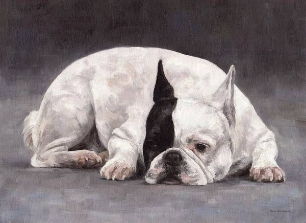 French Bulldog Painting - French Bulldog Painting by Rachel Stribbling