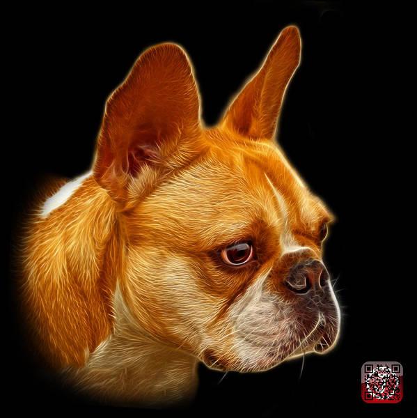 Painting - French Bulldog Pop Art - 0755 Bb by James Ahn