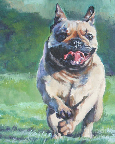 French Bulldog Painting - French Bulldog Running by Lee Ann Shepard